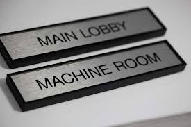 metal office nameplate with square frame office door name plates