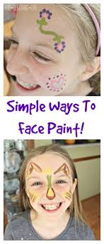 face painting easy animal paint for kids makeup idea