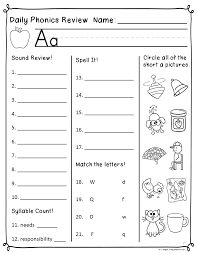 These free worksheets help your kids learn to define sounds from letters to make words. Daily Phonics Review Sheets Works With Or Without Scott Foresman Reading Street