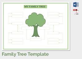 Family Tree Tree Template Family Tree Template 37 Free Printable Word Excel Pdf