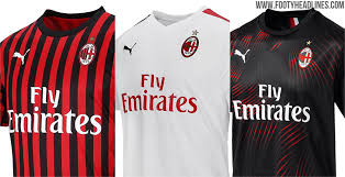 Footy 19-20 Home Released Away Kits Headlines Milan Third Ac - amp;