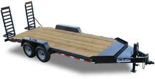 appalachian trailers utility dump gooseneck equipment car contractor grade 15000 gvwr equipment trailer