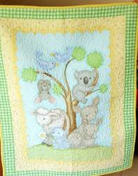 Baby Cot Quilt 'Outback' delightful fabric depicting Australian ... & Baby cot quilt delightful Australian animals by TwinkleLittleTots Adamdwight.com