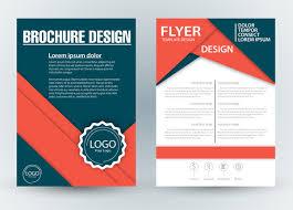 Brochure Template Design Free Brochure Template Design With Diagonal Illustration Free