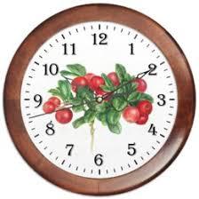 Часы для офиса с символикой цветы - <b>Printio</b>