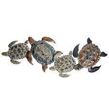 metal sea turtles wall decor globe