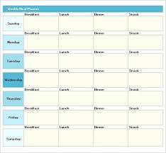 Weekly Meal Plan Sheet Meal Plan Template Excel Virtuart In Weekly Meal Planner