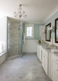dc metro gray blue paint bathroom traditional with shower tile nickel wall sconces white chandelier