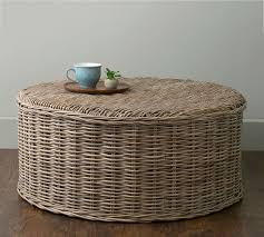rattan round coffee table indoor decor