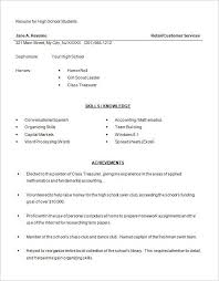highschool resume examples high school resumes examples best resume collection