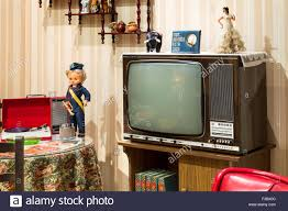 Living Room Tv Set Vintage Tv Living Room 70s Stock Photo Royalty Free Image