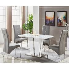 memphis white glass small dining table