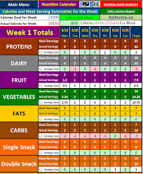 P90x Portion Chart Excel Spreadsheet Workout Manager For P90x Plus Workout