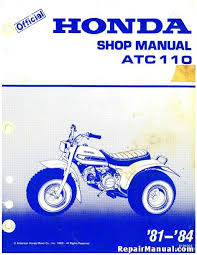 1981 1984 honda atc110 service manual repair manuals online 1981 1984 honda atc110 factory service manual