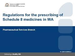 Medicines Schedule Regulations For The Prescribing Of Schedule 8 Medicines