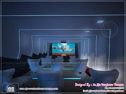 Home Theater And Spillover Space Interiors Kerala Home Design - Home theatre interiors