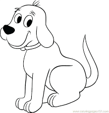 Dogs Coloring Pages Online The Big Red Dog Step 5 Coloring Page