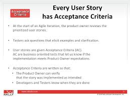 Agile User Story Acceptance Criteria Template How To Fit Testing Into The Iteration