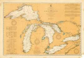 Northwestern Chart General Chart Of The Northern And Northwestern Lakes