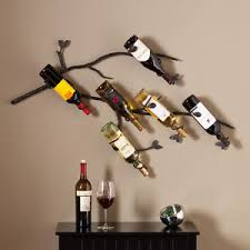 image is loading wall mount wine rack 6 bottle display unique  on wine bar wall art with wall mount wine rack 6 bottle display unique metal wall art decor
