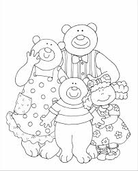 New Cartoon Bears Coloring Pages Collection Printable Coloring Sheet