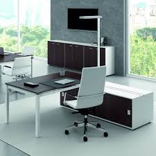 painted office furniture. Office X4 03 - Desk, With The Structure Painted White And Laminate In Wenge Furniture E