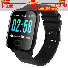 <b>A6 Smart</b> Band reloj inteligente pulsometro <b>Watch</b> Fitness Tracker ...