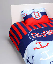 love this red blue anchor personalized duvet set