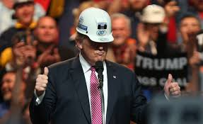 Image result for trump rally hard hat