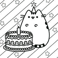 Pusheen Lineart Free Download On Ayoqqorg