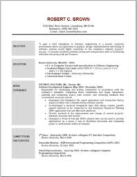 Download Example Of Resume Objective