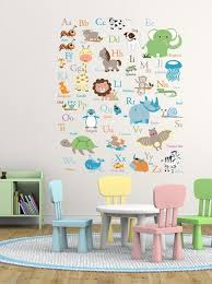 vinyl wall decal abc wall decal animal