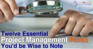 Gray And Wise Project 12 Project Management Rules Youd Be Wise To Note