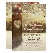 Rustic Winter Wedding Invitations Christmas Winter Rustic Wedding Invitations Zazzle