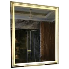 wall mounted led mirror illuminated