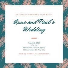 Wedding Invitation Templates With Photo Customize 724 Destination Wedding Invitations Templates