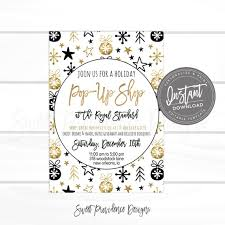 business open house flyer template christmas flyer editable pop up shop holiday boutique