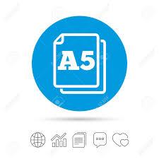 Paper Size A5 Standard Icon File Document Symbol Copy Files