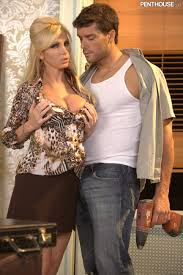 Blonde Secretary Nikki Benz with Fake Boobs from Penthouse in.