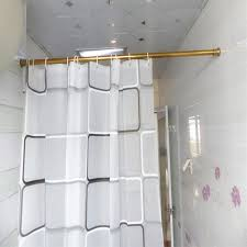 39 59 inch stainless steel gold shower curtain rod stainless steel shower curtain rod