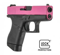 Glock 43 Fs 9mm Pink Slide Single Stack 2 Mags Blue Label Program