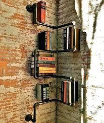 corner pipe shelves cast iron pipe shelves industrial corner pipe bookshelf black pipe corner shelves