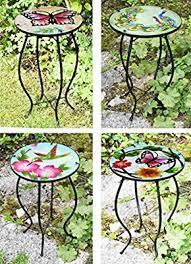 Garden & Patio Iron/ Glass Round <b>Mosaic Side Table</b> Garden ...