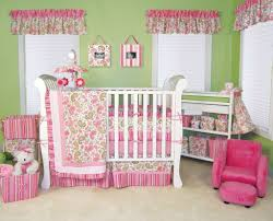 pink baby crib bedding design