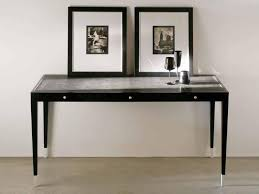 italian modern three drawer victor wood and lacquer writing desk by dom edizioni 3