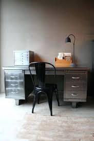 Vintage metal office furniture Drawers Metal Industrial Metal Desk Vintage Metal Office Desk Medium Size Of Office Industrial Style Furniture Computer Industrial Indiewebco Industrial Metal Desk Newlovewellnesscom