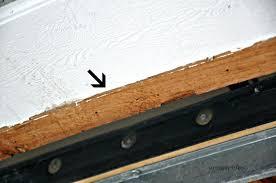 garage door weather stripping side and top brown wood design seal