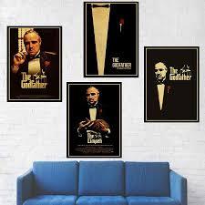 Classic film <b>The Godfather</b> poster bar home <b>wall</b> decoration <b>retro</b> ...