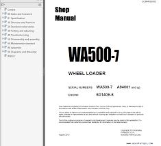 komatsu wa wiring diagrams komatsu auto wiring diagram schematic komatsu wheel loader wa500 7 shop manuals pdf repair manual on komatsu wa500 wiring diagrams
