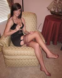 Amateur legs in stockings nylons